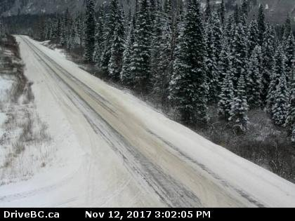 Pine Pass currently on Sunday afternoon. Check DriveBC.ca for the latest