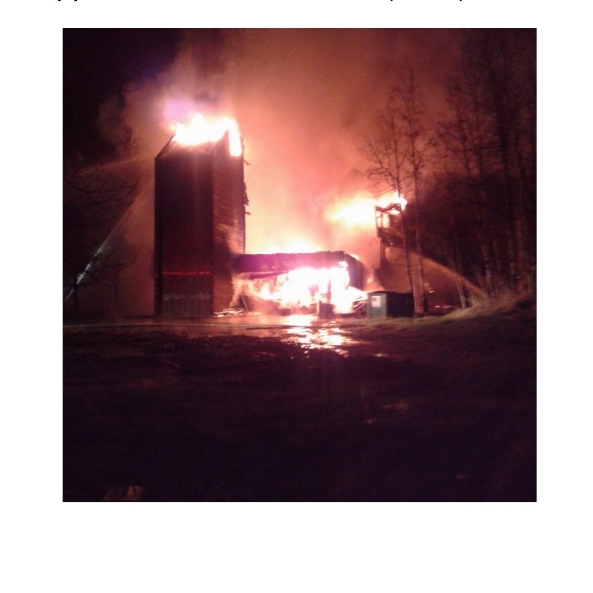 Structure fire under investigation in Pouce Coupe...