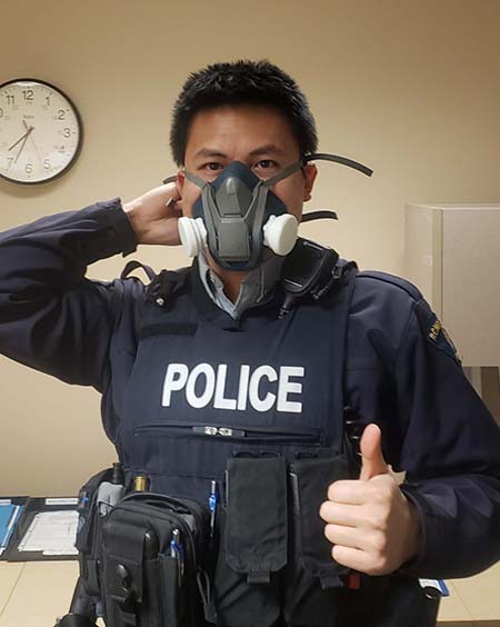 These masks prevent contamination for officers who have no choice but to be in close proximity to those who are potentially carrying the coronavirus,